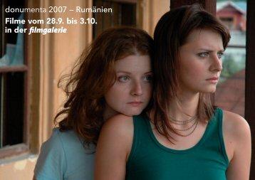 donumenta 2007 – Rumänien Filme vom 28.9. bis 3.10. in der ...