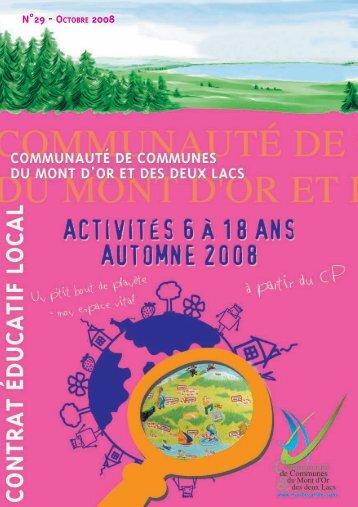 N°29 - OCTOBRE 2008 - Communauté de Communes du Mont D'Or ...
