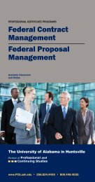 Federal Contract Management Federal Proposal Management