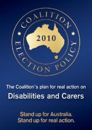 Disabilities and Carers - Liberal Party of Australia