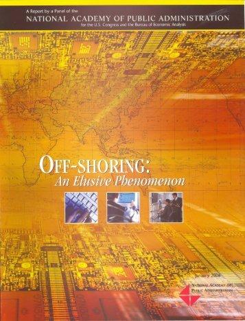 Offshoring: An Elusive Phenomenom - Bureau of Economic Analysis