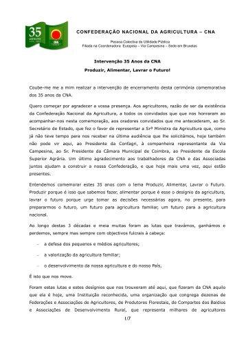 Intervenção de Pedro Santos - CNA