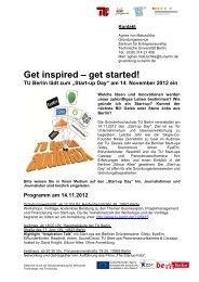 Der Start-up Day an der TU Berlin (PDF, 109,5 KB)