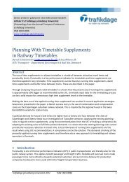 Planning With Timetable Supplements in Railway ... - Trafikdage.dk