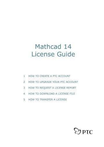 mathcad license file