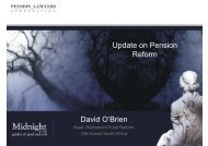 Update on Pension p Reform David O'Brien - Pension Lawyers ...