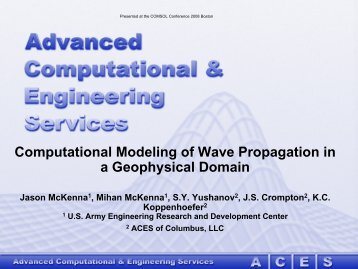 Computational Modeling of Wave Propagation in a ... - COMSOL.com