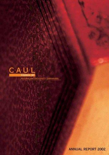 CAUL Annual Report 2002