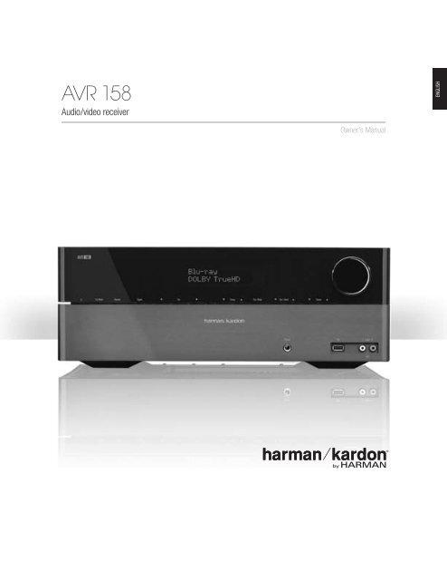 Owner Manual - AVR 158 (English EU) - Harman Kardon