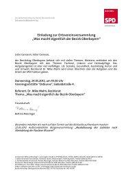 Sozialdemokratische Partei Deutschlands - SPD Ortsverein ...