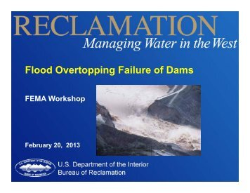 Flood Overtopping Failure of Dams