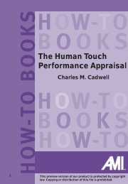 The Human Touch Performance Appraisal - TRAINING SOLUTIONS ...