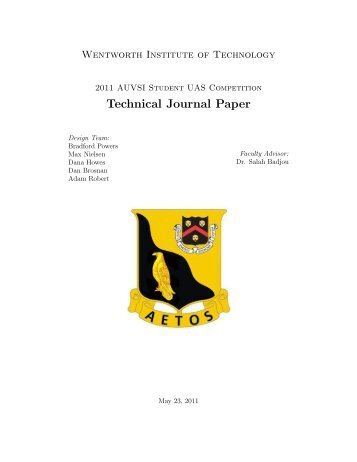Technical Journal Paper - AUVSI Seafarer Chapter
