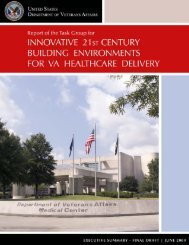 Innovative 21st Century Building Environments for VA Healthcare ...