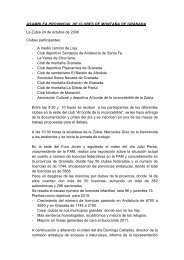 ASAMBLEA PROVINCIAL DE CLUBES DE MONTAÑA DE ...