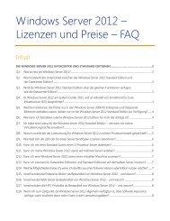 Windows Server 2012 Lizenzen und Preise FAQ - Tarox