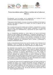Foros de análisis sobre el Marco Jurídico de la Cultura en México
