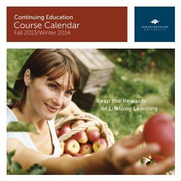 Course Calendar - Vancouver Island University