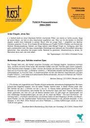 TUSCH Pressestimmen 2004-2005