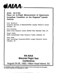 Plans for In-Flight Measurement of Hypersonic Crossflow Transition ...