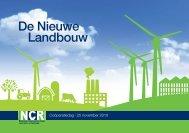 De Nieuwe Landbouw - Nationale Coöperatieve Raad voor land