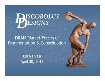 DRAM Market Forces of Fragmentation & Consolidation