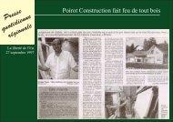 Presse quotidienne régionale - Chalet & Maison bois Poirot