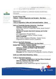 Printable version - Canada's Asia-Pacific Gateway & Corridor Initiative