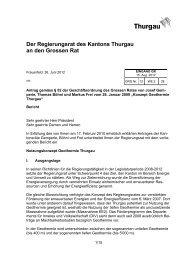 Bericht an den Grossen Rat - Verein Geothermie Thurgau