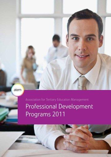Professional Development Programs 2011 - ATEM