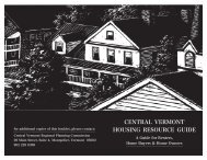 Central Vermont Housing Resource Guide - City of Montpelier ...