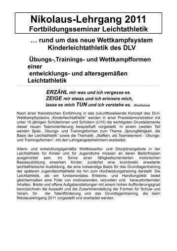 Nikolaus-Lehrgang 2011 - Württembergischer Leichtathletikverband