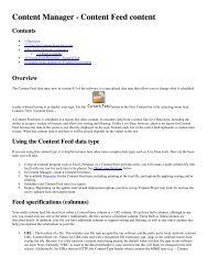 Content Manager - Content Feed content
