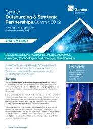 Gartner Outsourcing & Strategic Partnerships Summit 2012
