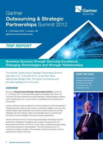 Gartner Outsourcing & Strategic Partnerships Summit 2012