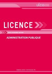 Licence Administration publique - Université du Littoral Côte d'Opale