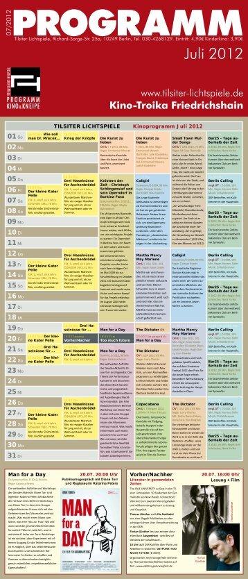 Troika-Kinoprogramm Juli 2012 - Kino Zukunft