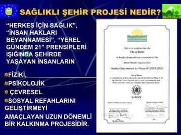 Sağlıklı Şehirler Projesi Bilgilendirme 2005 - Türkiye Sağlıklı Kentler ...