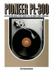 Pioneer Perfects World's Thinnest Turntable Motor