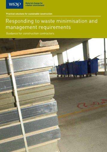 Responding to waste minimisation and management ... - Wrap