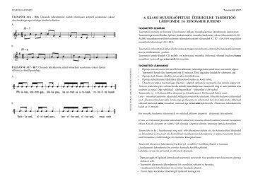 Muusika hindamisjuhend - Riiklik Eksami ja Kvalifikatsioonikeskus