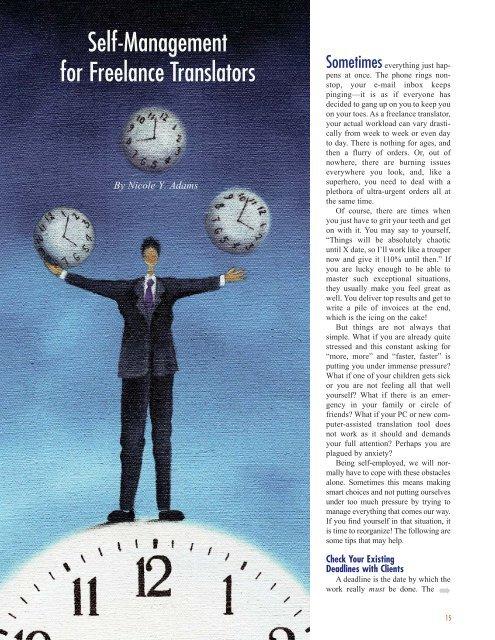 Self-management for freelancers - NYA Communications