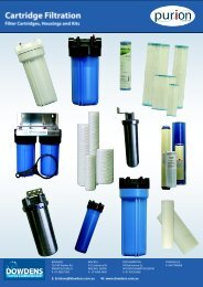 Cartridge Filters and housing Brochures