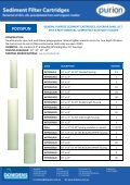 Cartridge Filters and housing Brochures - Page 2