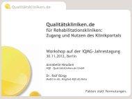 Qualitätskliniken.de - IQMG Institut für Qualitätsmanagement im ...