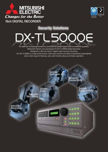 Mitsubishi DX-TL5000E Datasheet - SLD Security & Communications