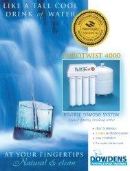 quick-twist undersink reverse osmosis (ro) system