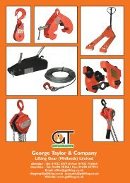 gt mini mechanical handling brochure - George Taylor & Company
