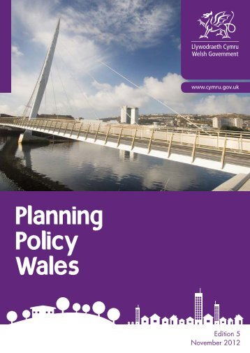 Planning Policy Wales - Denbighshire Local Development Plan