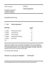 2009 E RW Aufg - Wirtschaftsschule KV Chur